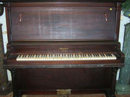 Curtis Boston Mahogany Veneer Upright Piano