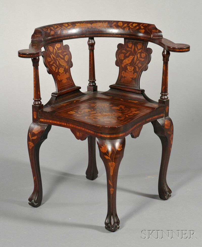 Marquetry Corner Chair