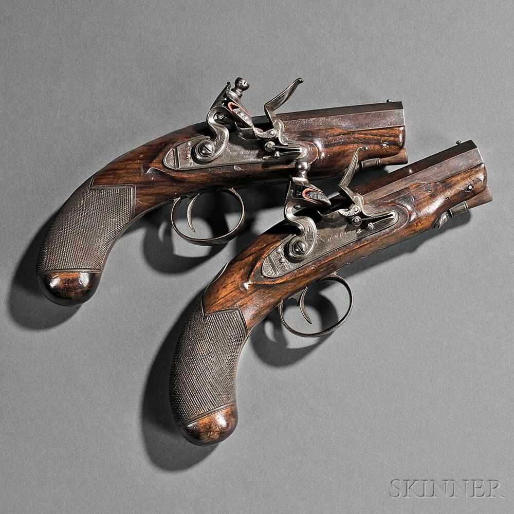 pair of nock flintlock pistols sale number 2760m lot number 11 skinner auctioneers. Black Bedroom Furniture Sets. Home Design Ideas