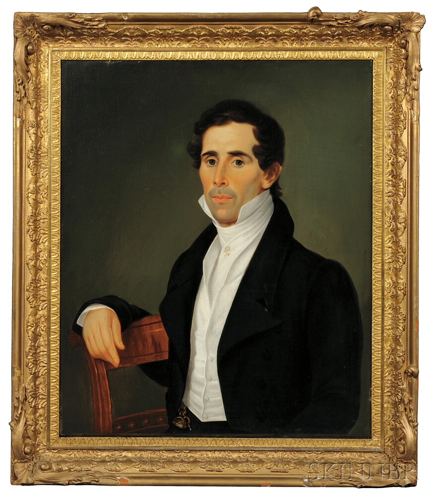 American School Early 19th Century Portraits Of A