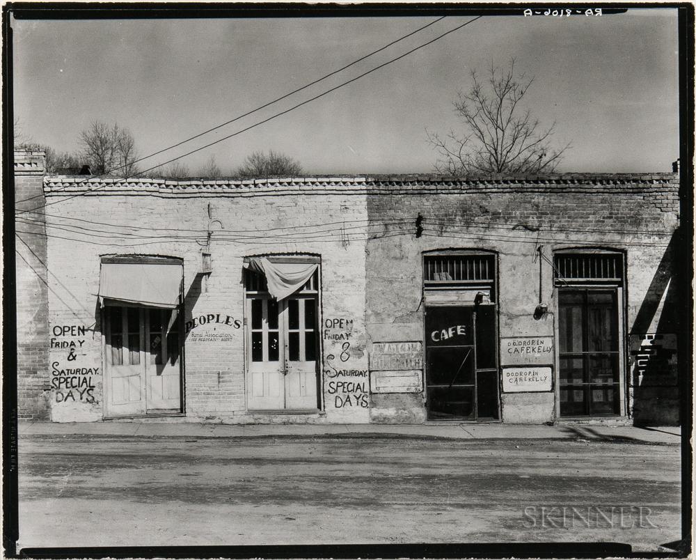 Walker Evans (American, 1903-1975)       Storefronts, Edwards, Mississippi