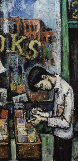 Mervin Jules (American, 1912-1994)  The Old Bookshop