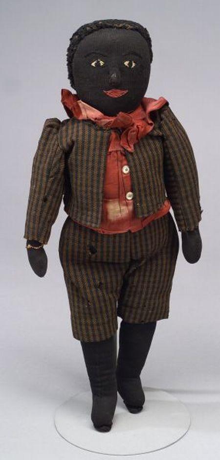 Handmade Black Boy Rag Doll