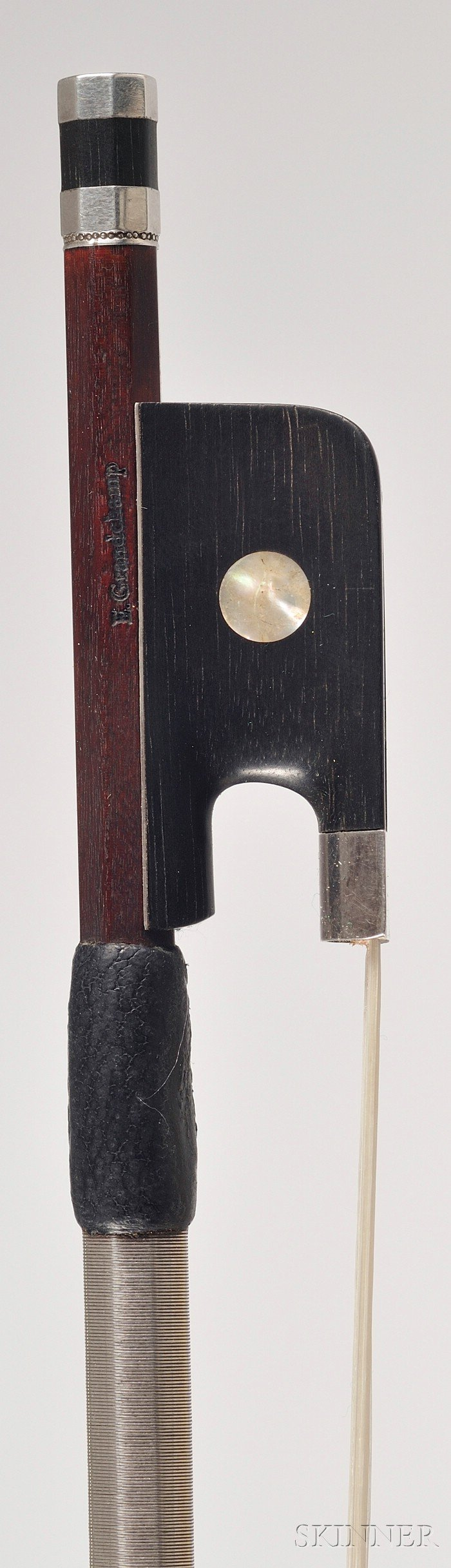 French Silver Mounted Viola Bow,  Eric Grandchamp