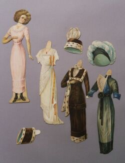 Unidentified Embossed Lady Paper Doll