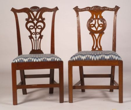 Set of Six George III Mahogany Side Chairs and a Similar Pair