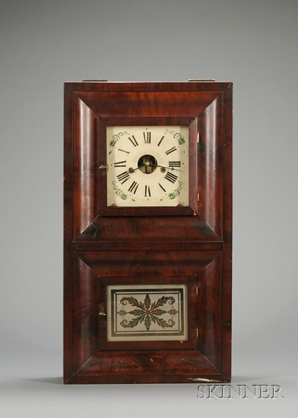 Mahogany Ogee Clock by Forestville Manufacturing Co.