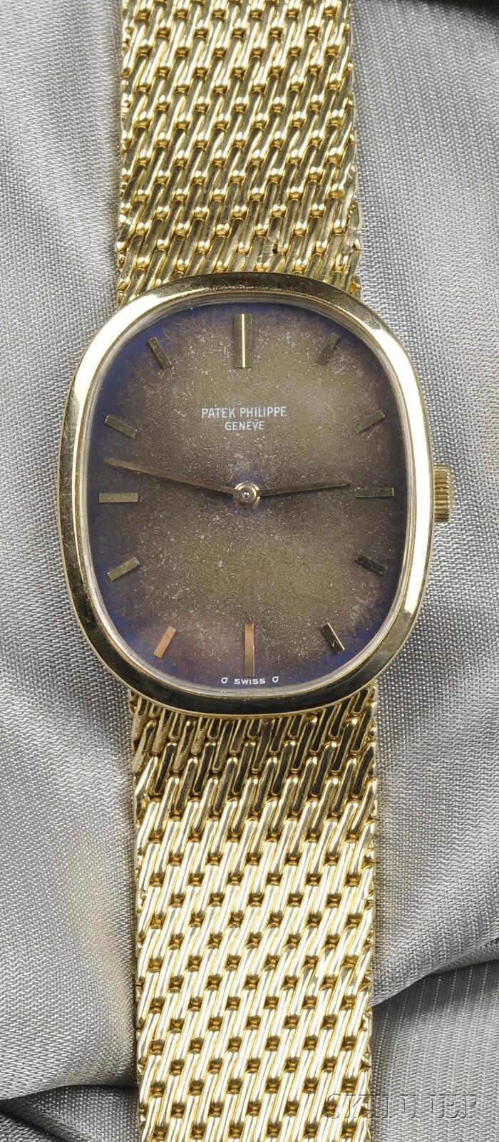 """18kt Gold """"Ellipse"""" Wristwatch, Patek Philippe"""