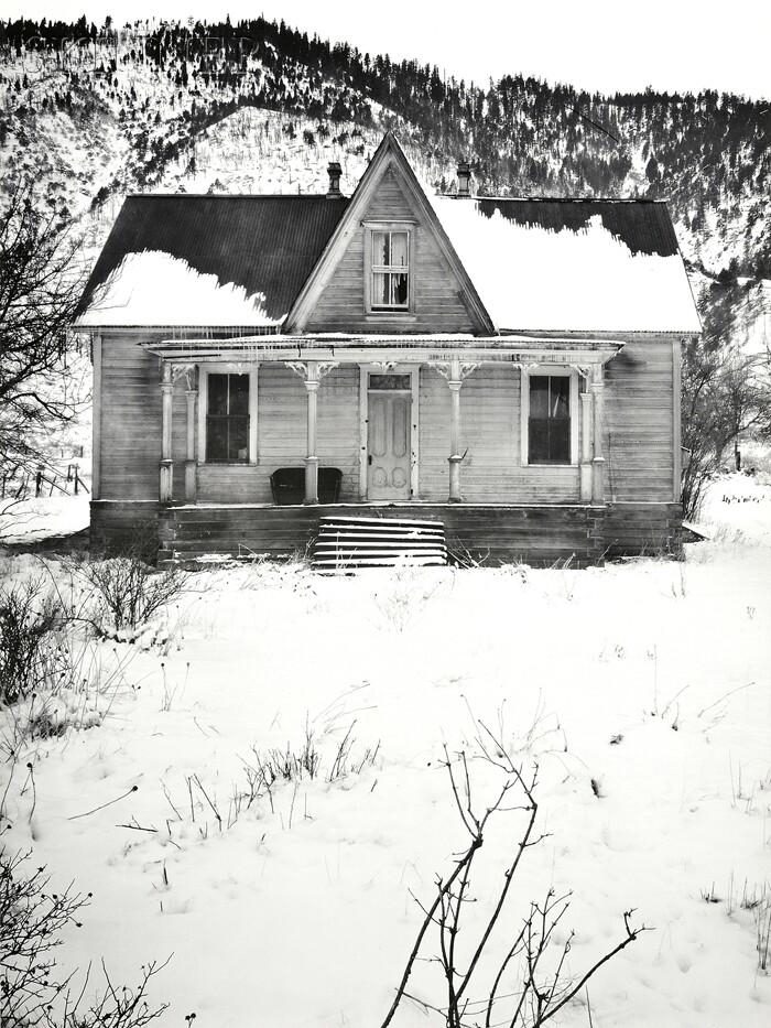Ansel Adams (American, 1902-1984)      Ranch House near Canyon City Nevada.