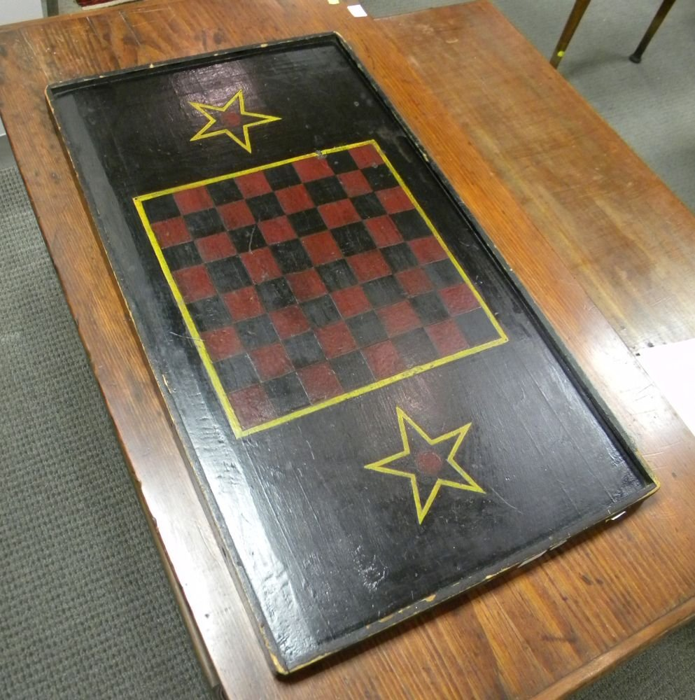 Painted Pine Double-sided Game Board