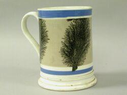 English Pearlware Quart Mug.
