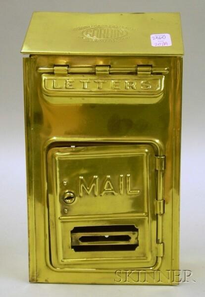 Corbin Brass Wall Mailbox