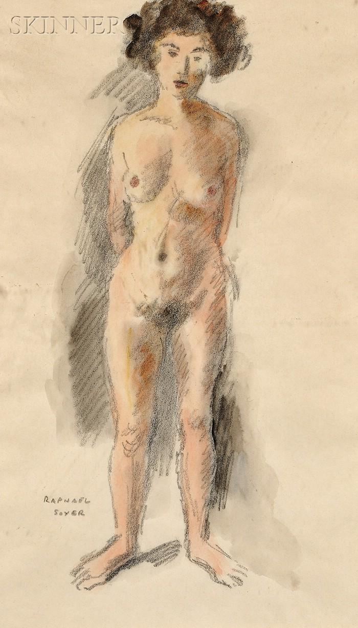 Raphael Soyer (American, 1899-1987)      Portrait of a Female Nude