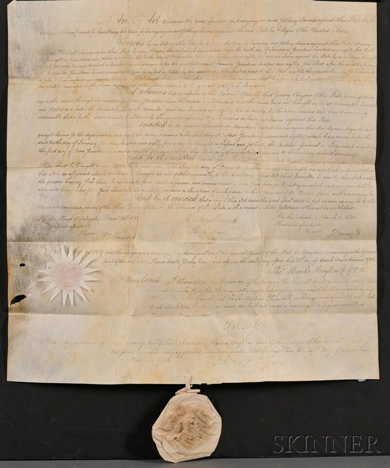 (Revolutionary War, Financial Reparations, Maryland)
