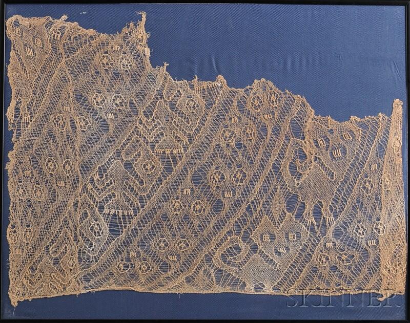 Peruvian Pre-Columbian Net Weave Textile Fragment