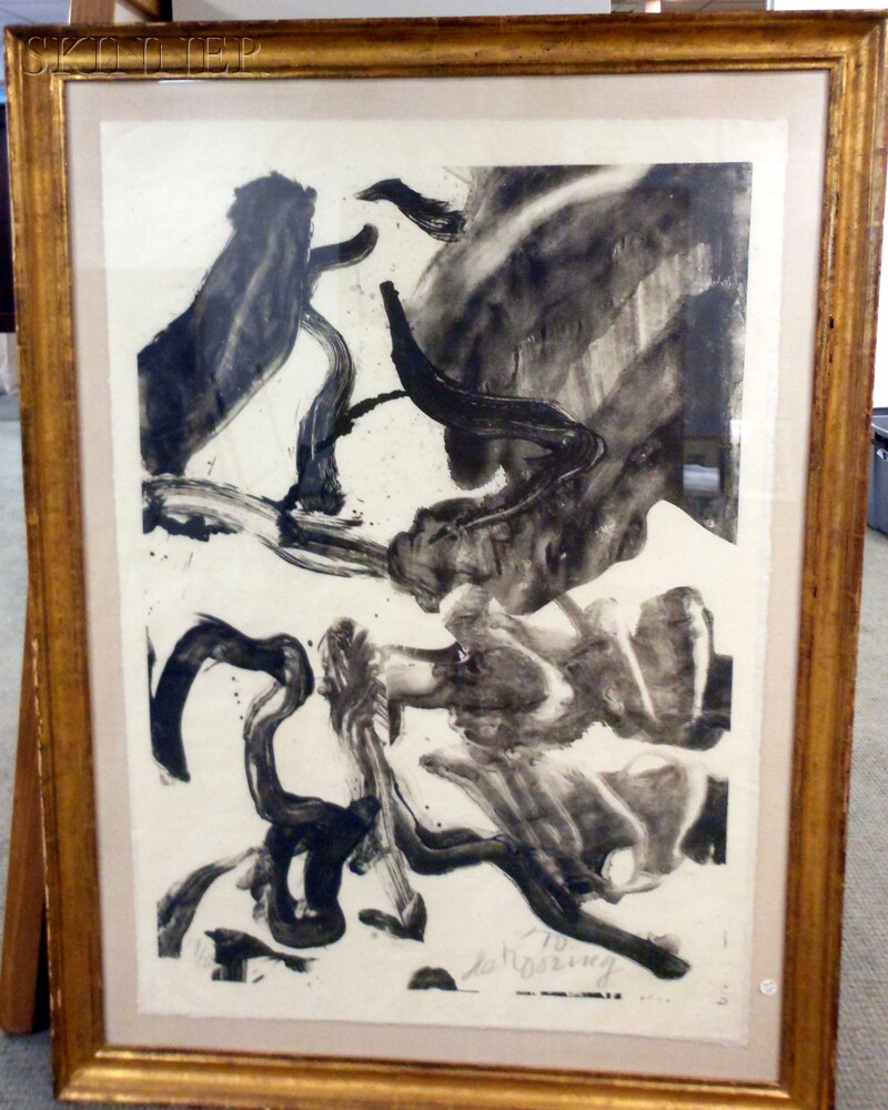 Willem de Kooning (Dutch/American, 1904-1997)      Reflections: To Kermit for our Trip to Japan