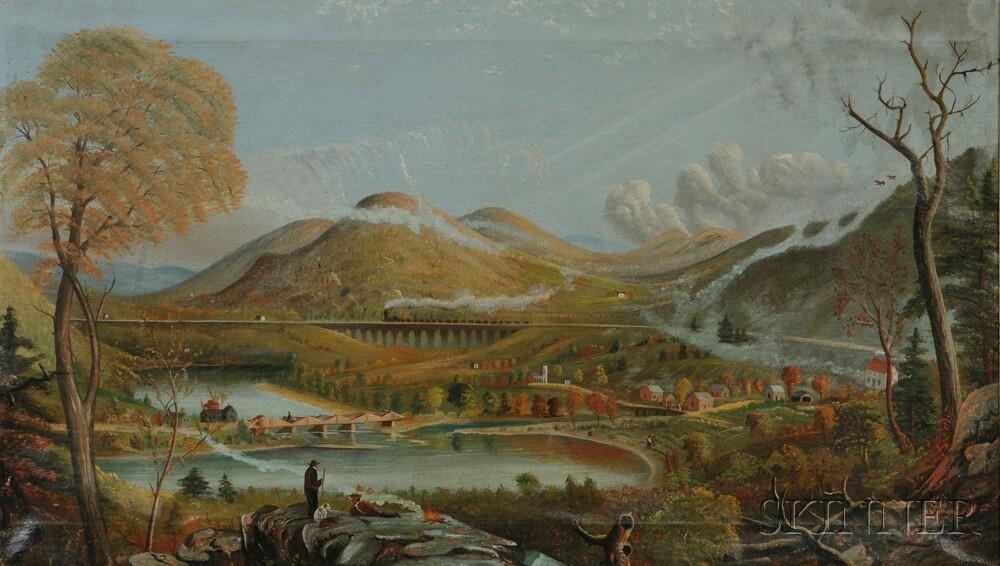 After Jasper Francis Cropsey (American, 1823-1900)      Starrucca Viaduct, Pennsylvania.
