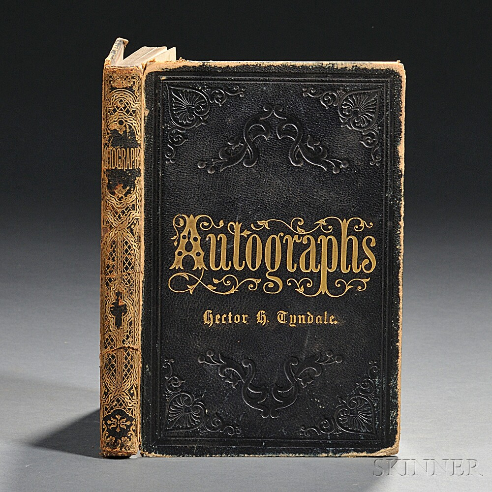 Grant, Ulysses S. (1822-1885) Autograph Album Containing His Signature, and those of Associated Political Figures