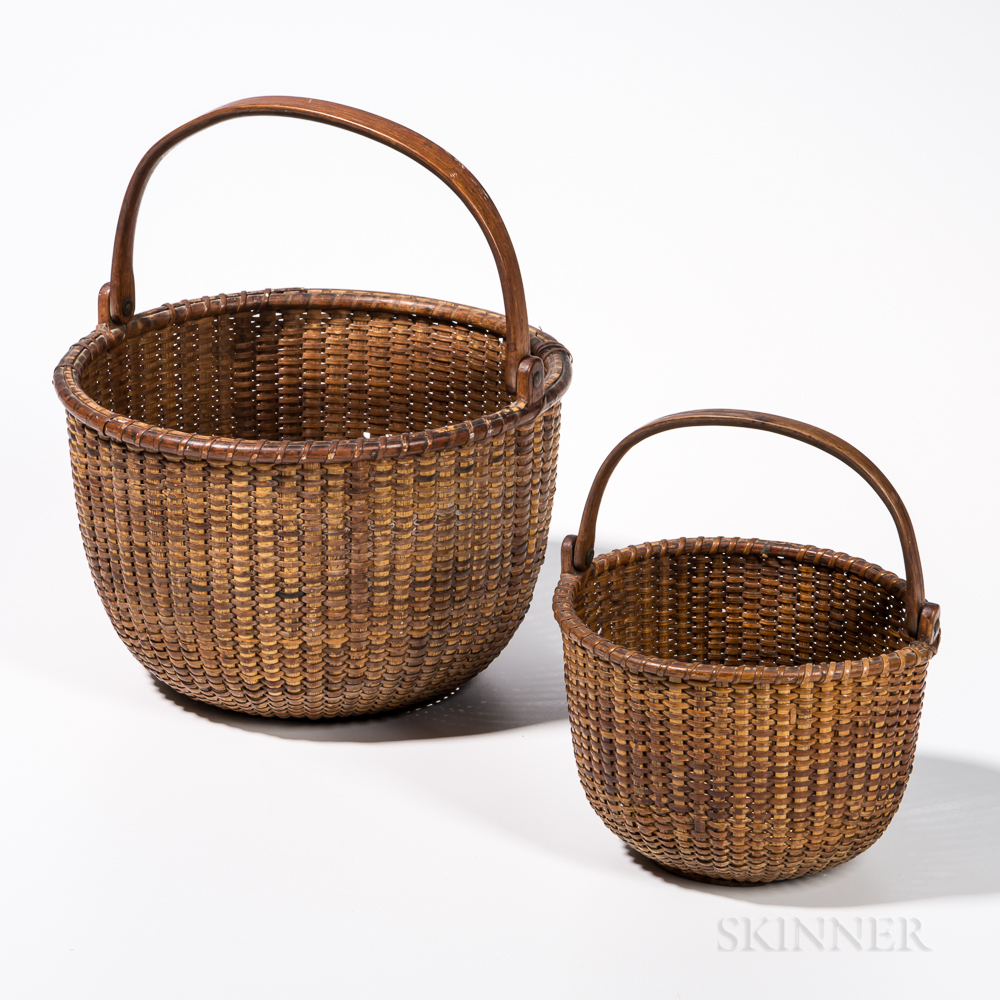 Two Nantucket Lightship Baskets