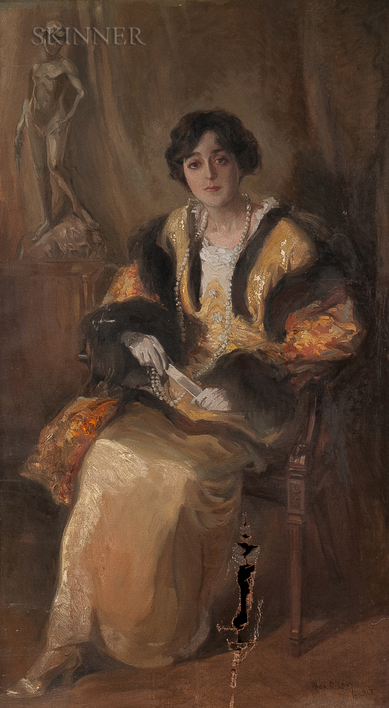 Alexander Oscar Levy (American, 1881-1947)      Portrait of a Woman