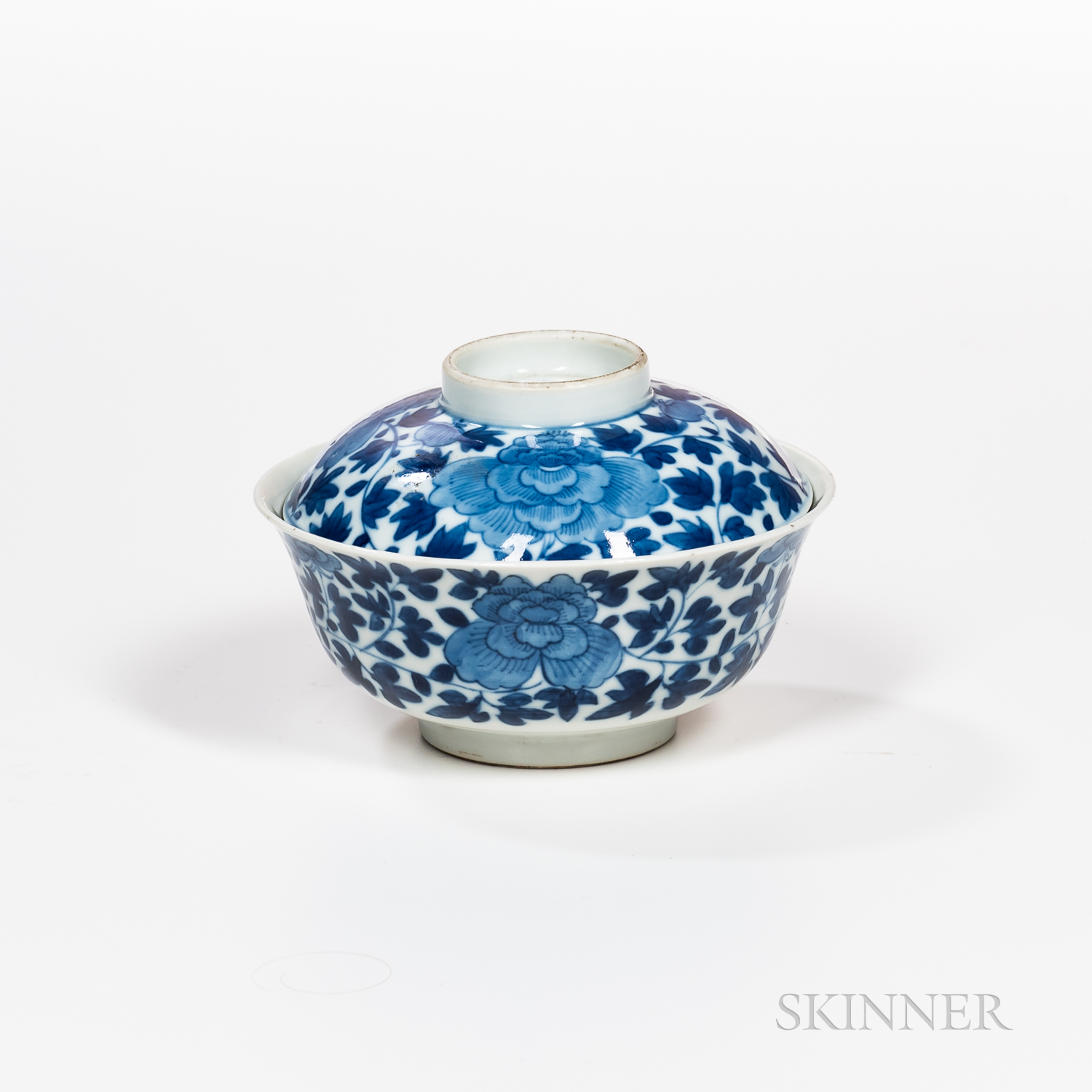 Blue and White Bowl and Cover