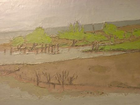 Framed Oil Shore View Beirada