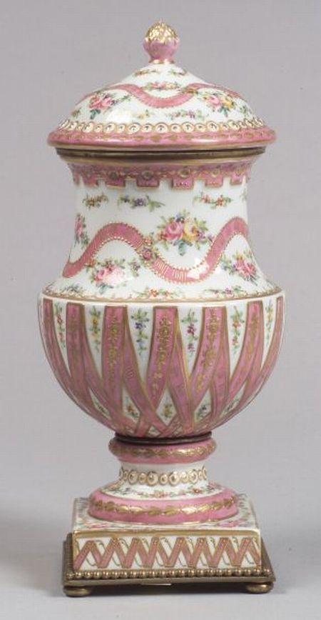Sevres-style Porcelain Mantel Urn