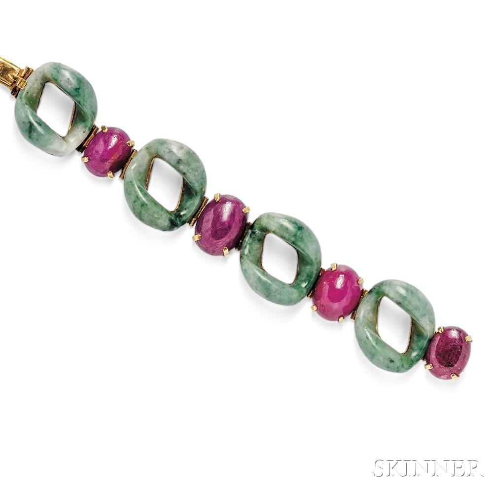 14kt Gold Gem-set Bracelet, Patricia Schepps Vail, Seaman Schepps