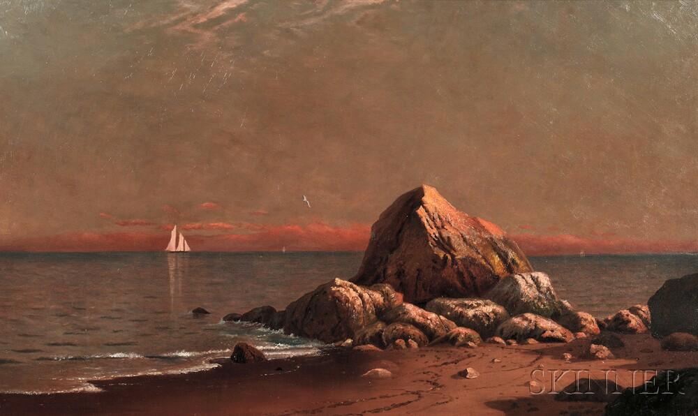 American School, 19th Century      Shore at Sunset
