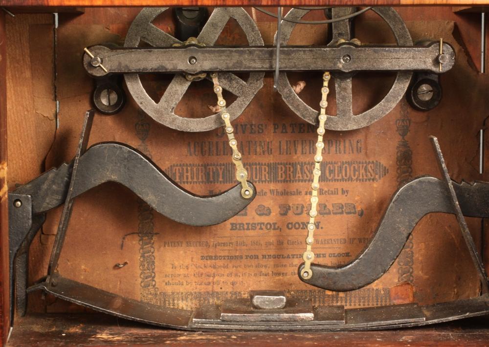Birge & Fuller Double Steeple Clock Wagon Spring Clock