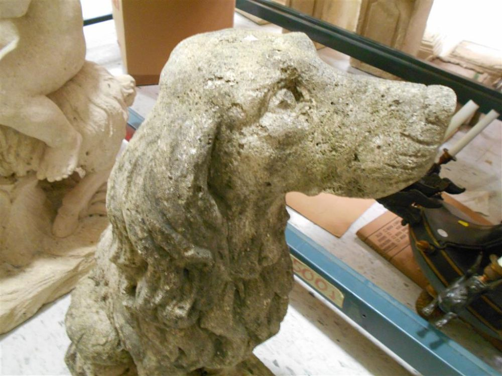 Stone Garden Sculpture of a Dog