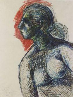 Joe Jones (American, 1909-1963)  Female Figure