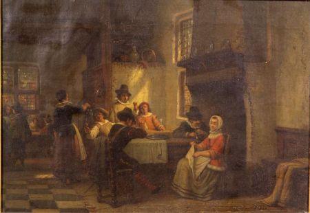 Henri Diddaert (Belgian, 1819-1893)    Tavern Interior