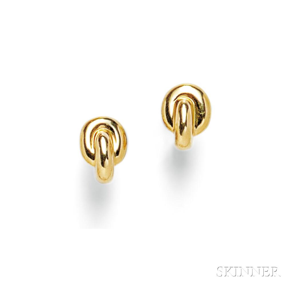 18kt Gold Earclips, Angela Cummings