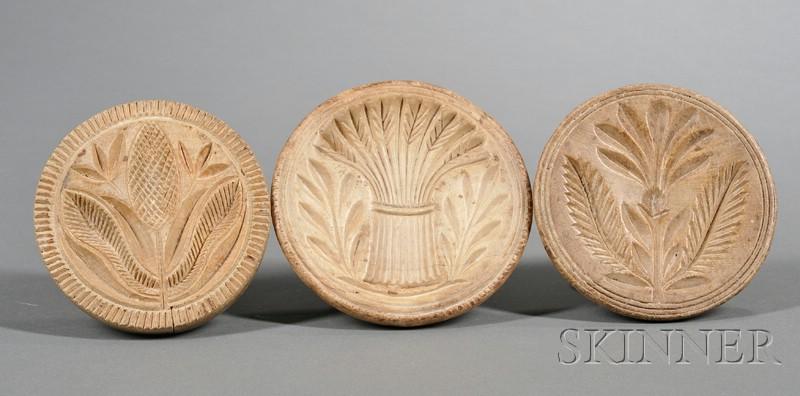 Three Wooden Butter Prints