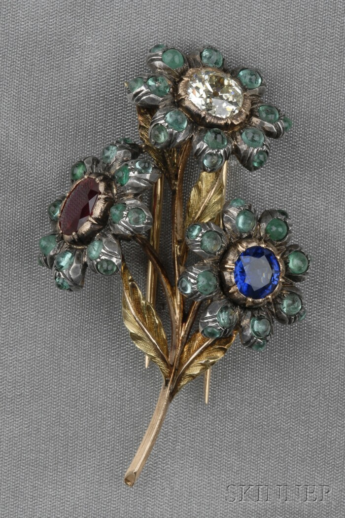 Gem-set Flower Brooch, Gianmaria Buccellati
