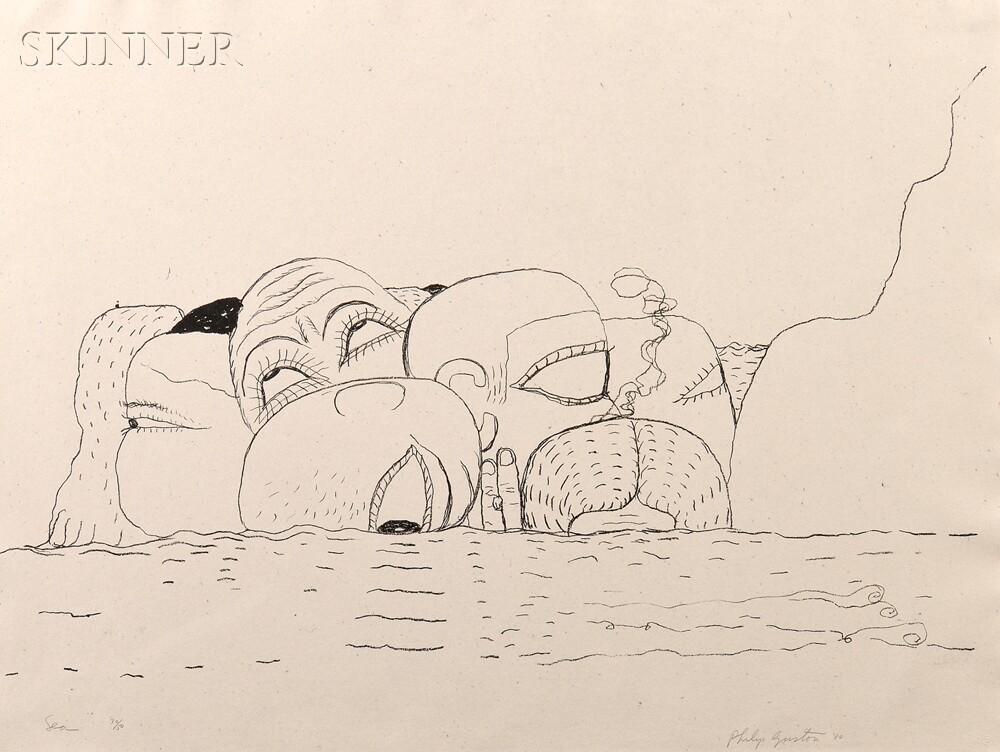 Philip Guston (American, 1913-1980)      Sea