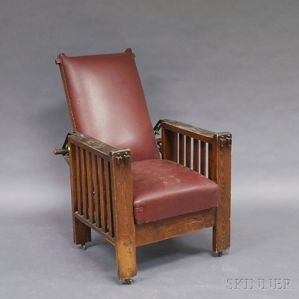 Arts & Crafts Oak Morris Chair