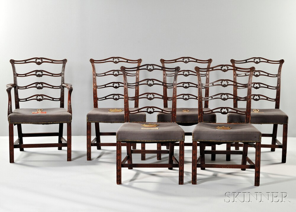 Six George III Mahogany Chairs