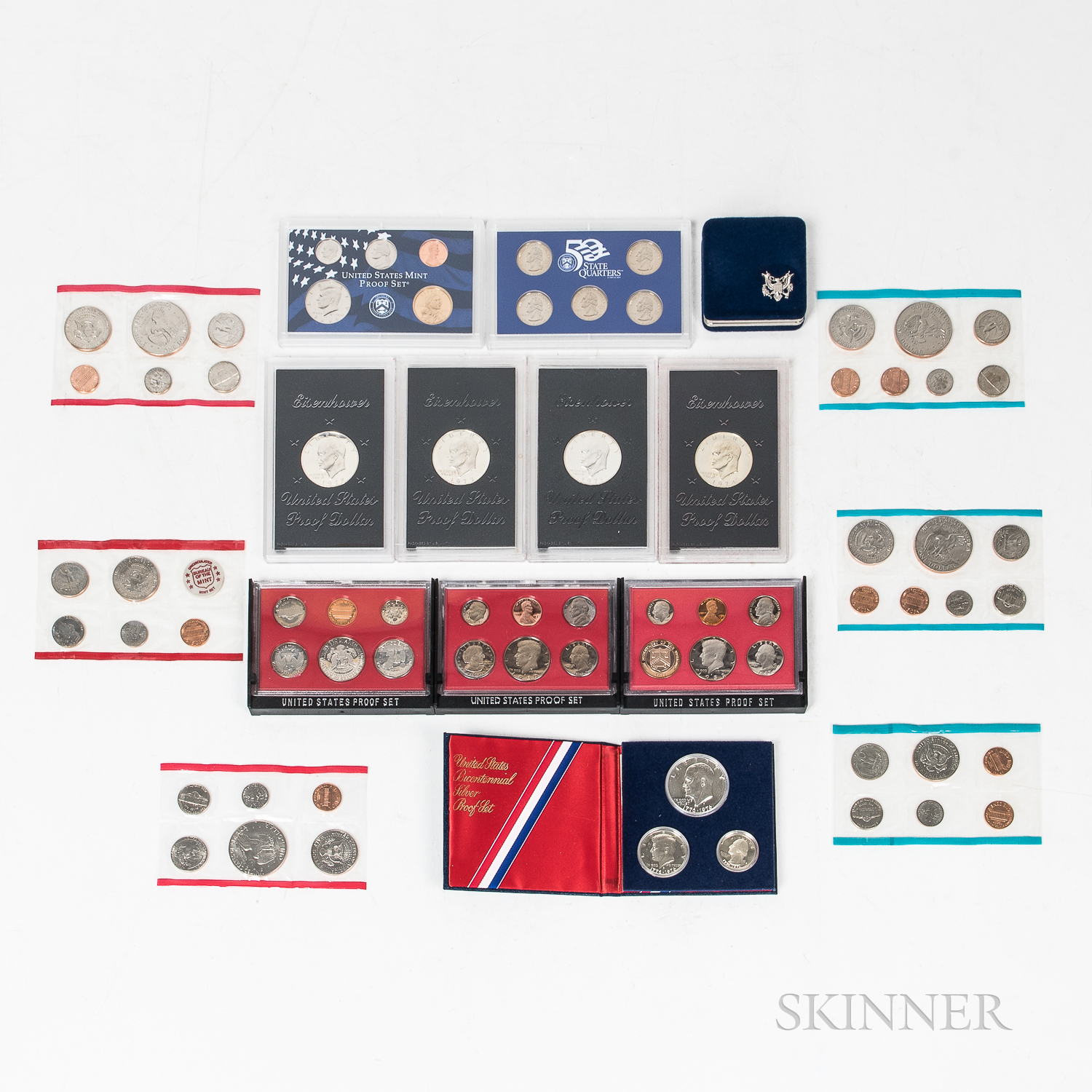 Group of American Proof and Mint Sets