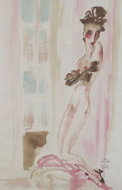 Mahlon Blaine (American, 1894-1970)  Lot of Two Images of Nudes:  Sunday Comics