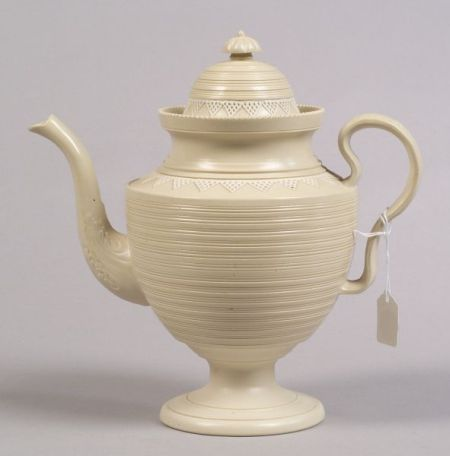 English Salt Glazed Stoneware Coffeepot