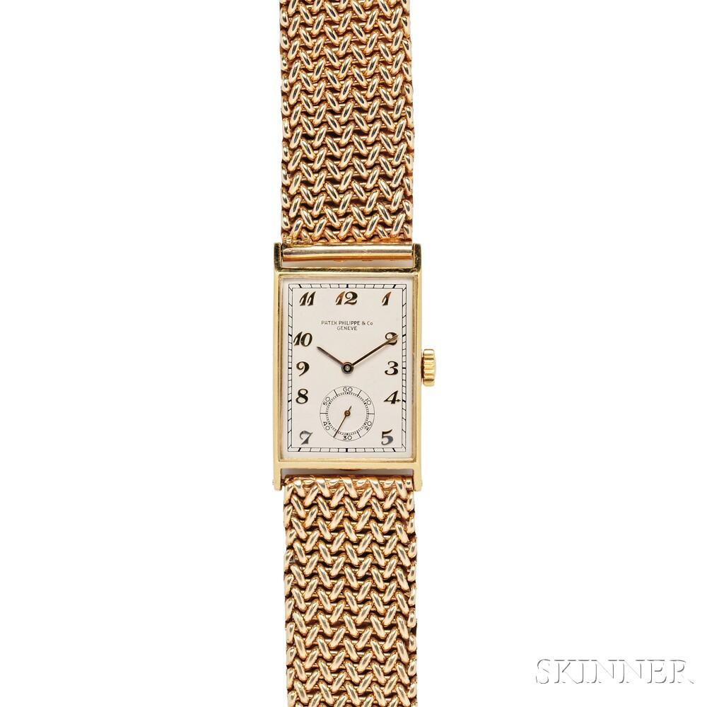Gentleman's 18kt Gold Wristwatch, Patek Philippe