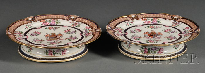 Pair of Samson Porcelain Footed Cake Plates