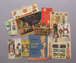 Group of Unusual Advertising Paper Dolls