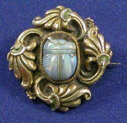 Art Nouveau Sterling Silver, Opal, and Enamel Brooch