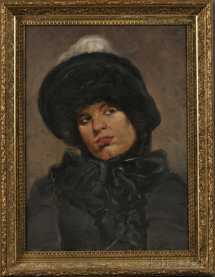 Italian School, 19th Century      Portrait of a Woman in Black