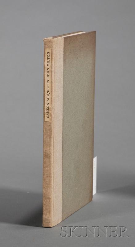 (Fine Press, Two Titles by Milton, John, 1608-1674)