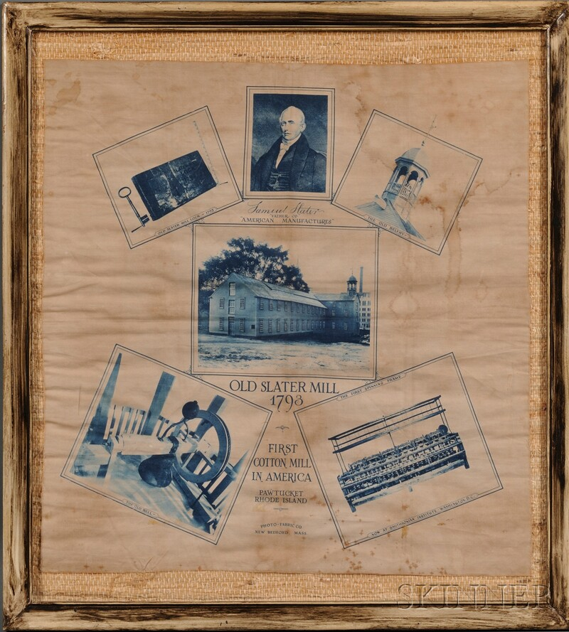 Three Framed Pawtucket, Rhode Island, Slater Mill Related Items