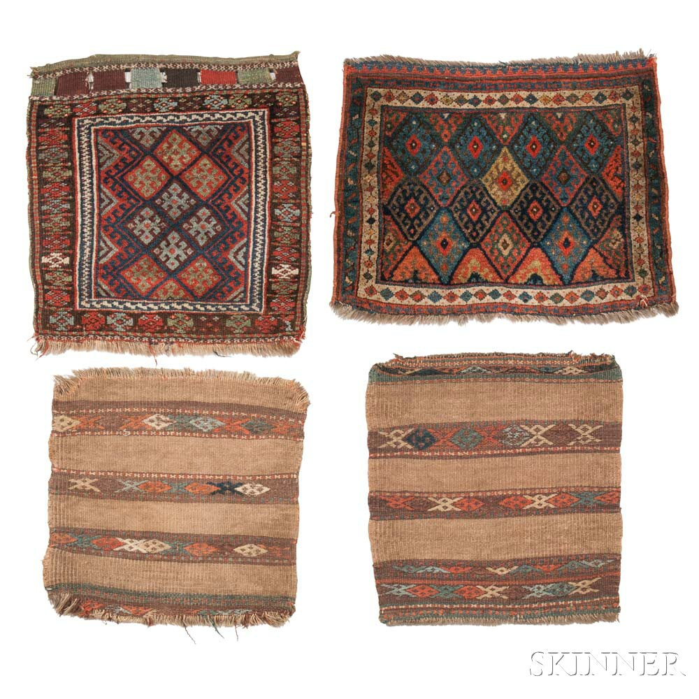 Two Jaf Kurd Bagfaces and Two Kurdish Bag Backs